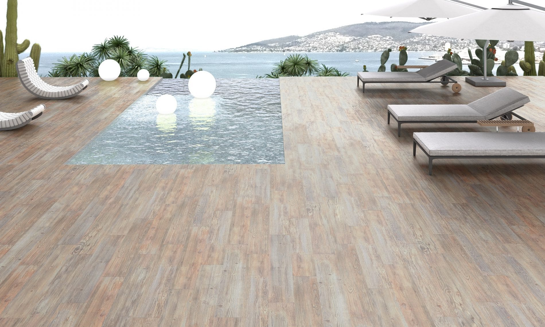 Ext rieur terrasse piscine balcon david carrelage for Carrelage terrasse piscine