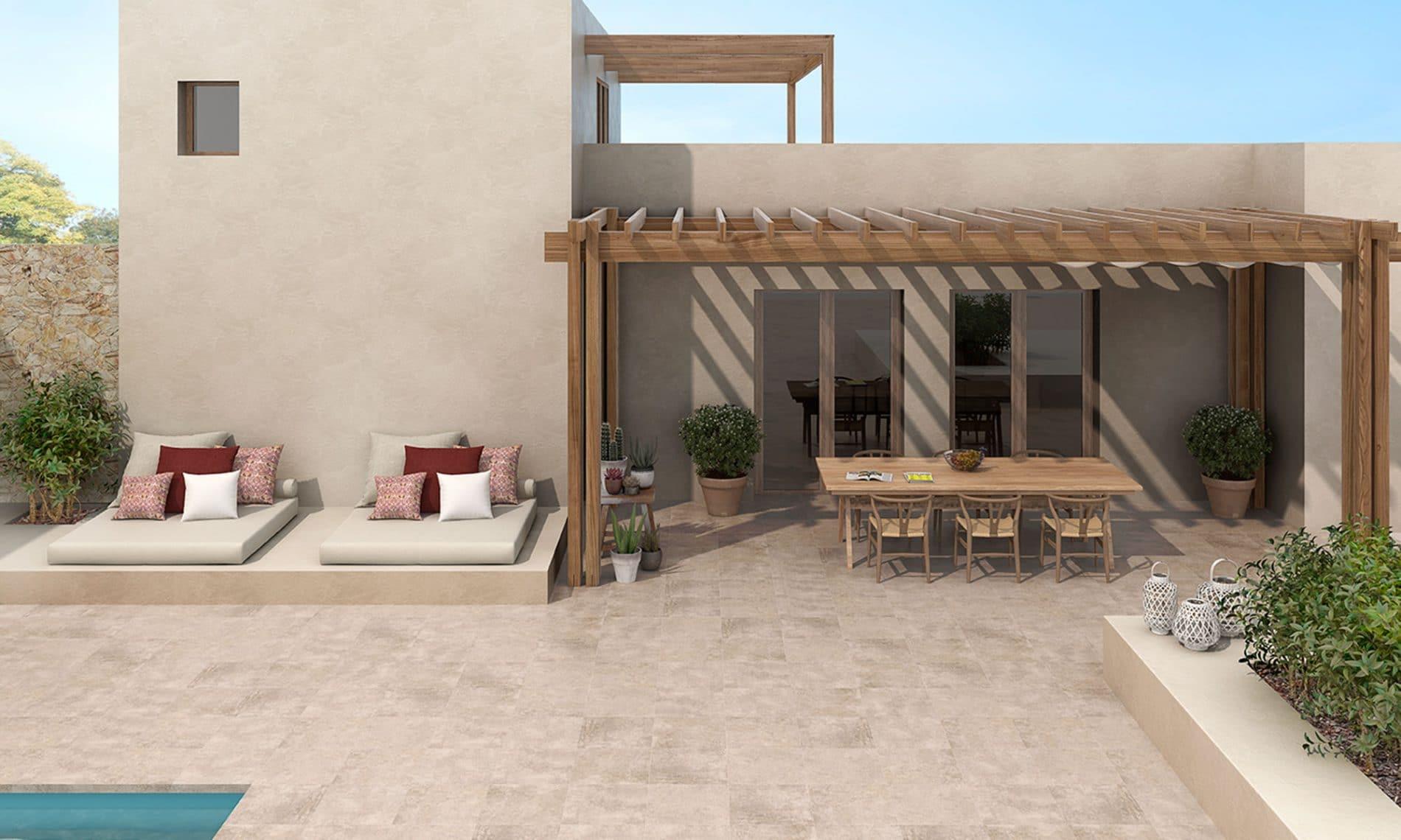 Ext rieur terrasse piscine balcon david carrelage for Carrelage exterieur terrasse italien