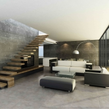 Avantgarde modern grey atmosphere