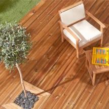 Terrace and garden wood